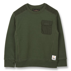 FINGER IN THE NOSE Boys Khaki Sweatshirt with Pocket