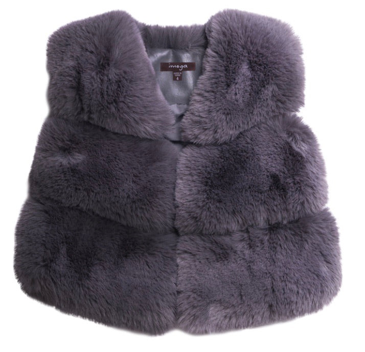 IMOGA Girls Gia Dove Faux Fur Vest