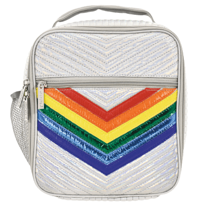 ISCREAM Rainbow Silver Chevron Lunch Tote