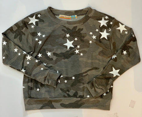 VINTAGE HAVANA Star Camo Long Sleeve Top