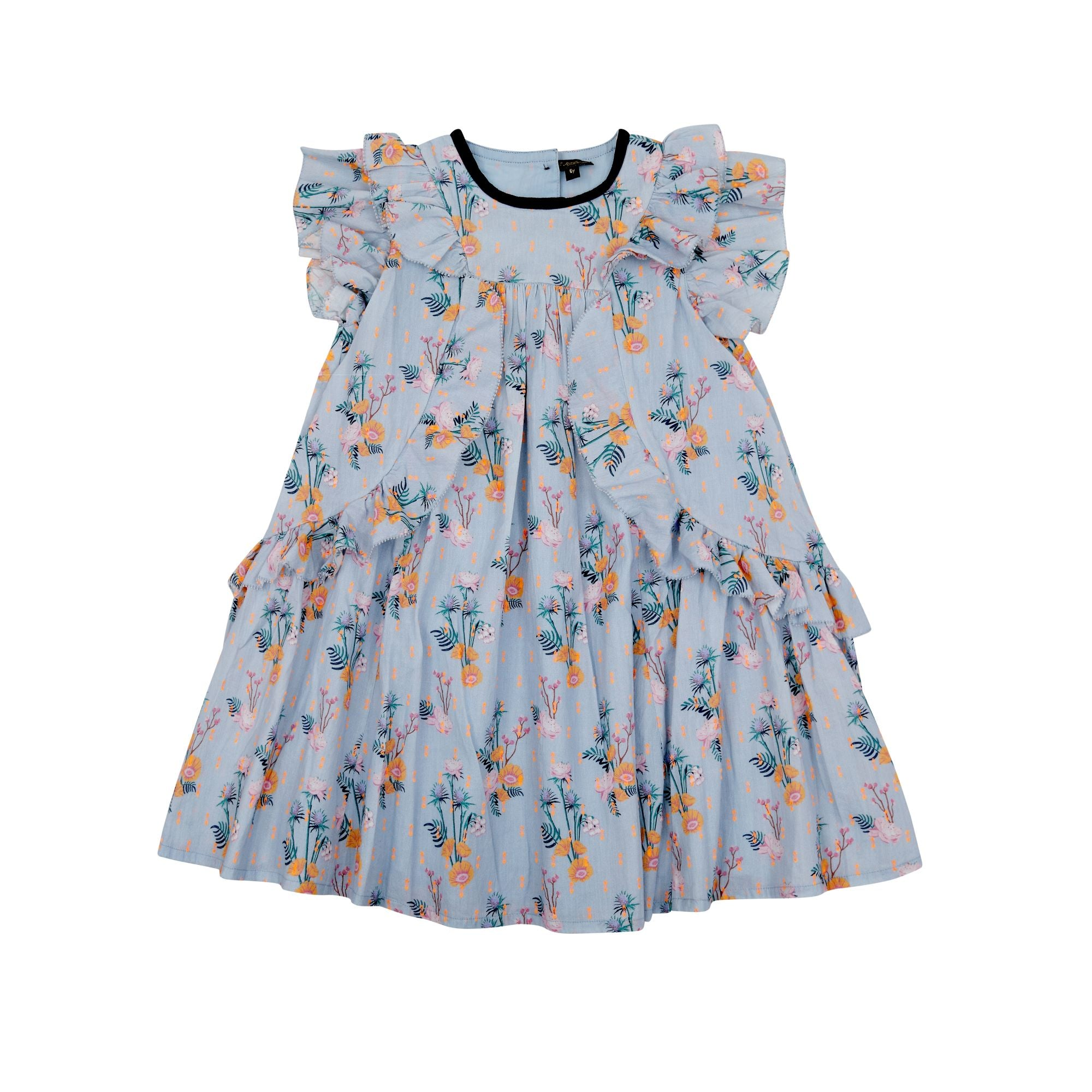 VELVETEEN Girls Floral Sleeveless Dress