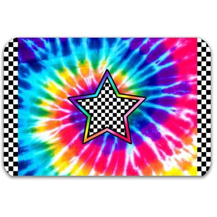 TOP TRENZ Tie Dye Star Power Floor Mat