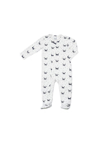 EGG BABY Zipper Footie with Panda Bear Print