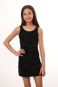 LES TOUT PETIT Girls Black Sleeveless Dress