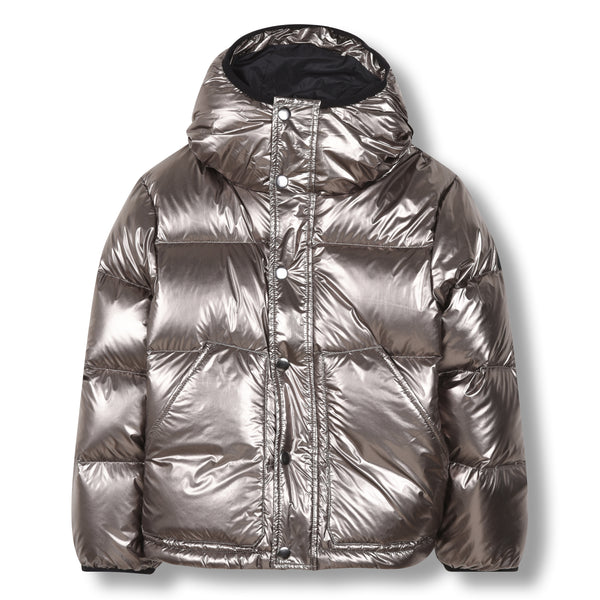 FINGER IN THE NOSE Silver Down Jacket