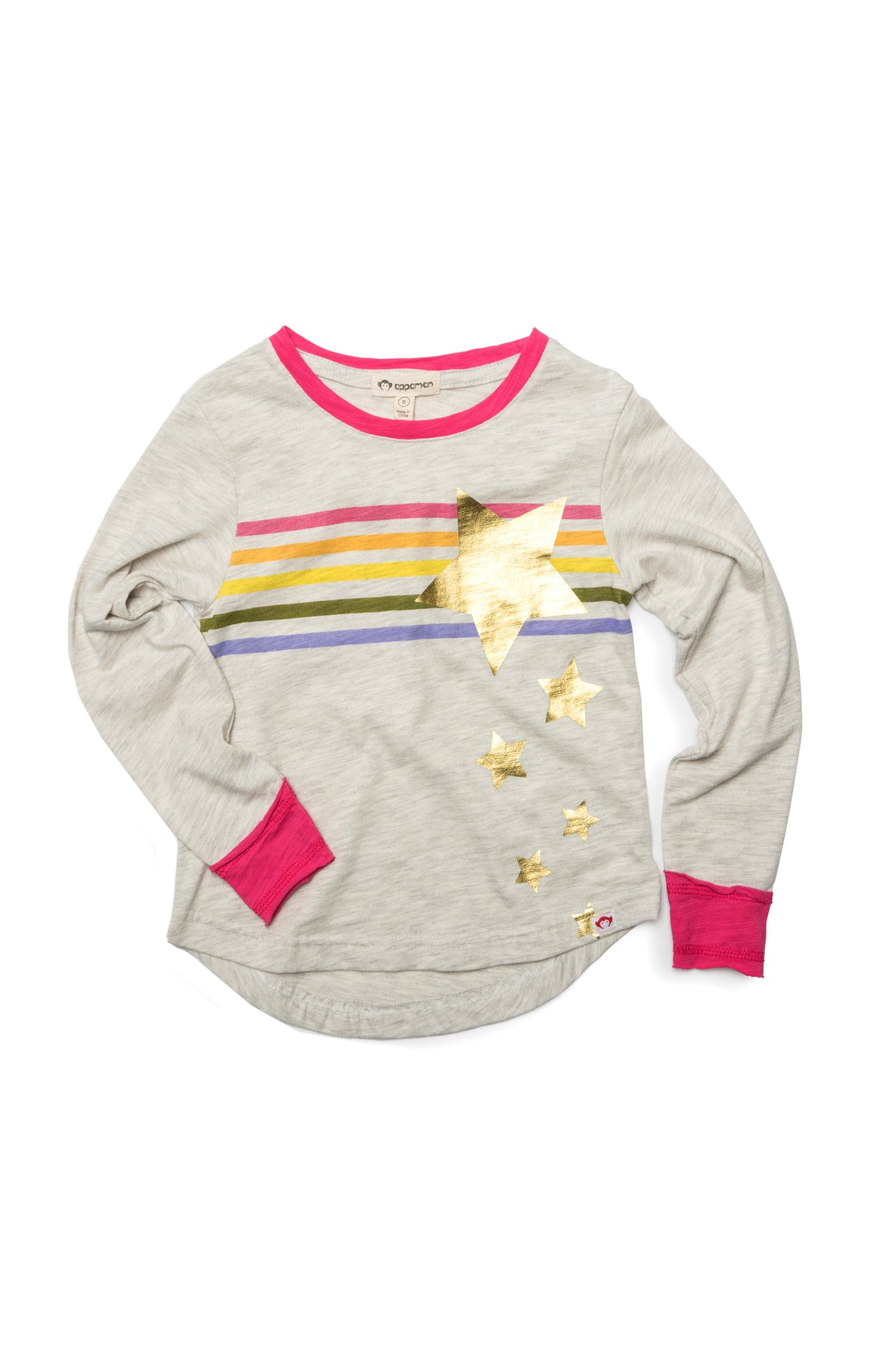 APPAMAN Girls Long Sleeve Cloud Daisy Tee