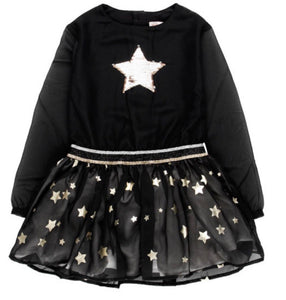 BOBOLI Girls Velour Dress