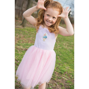 SPARKLE BY STOOPHER Strappy Tulle Dress with Sequin Ice Cream