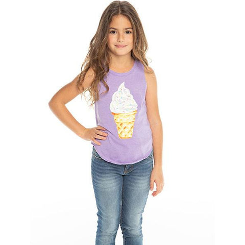 CHASER Girls' Ice Cream Sleeveless Tank