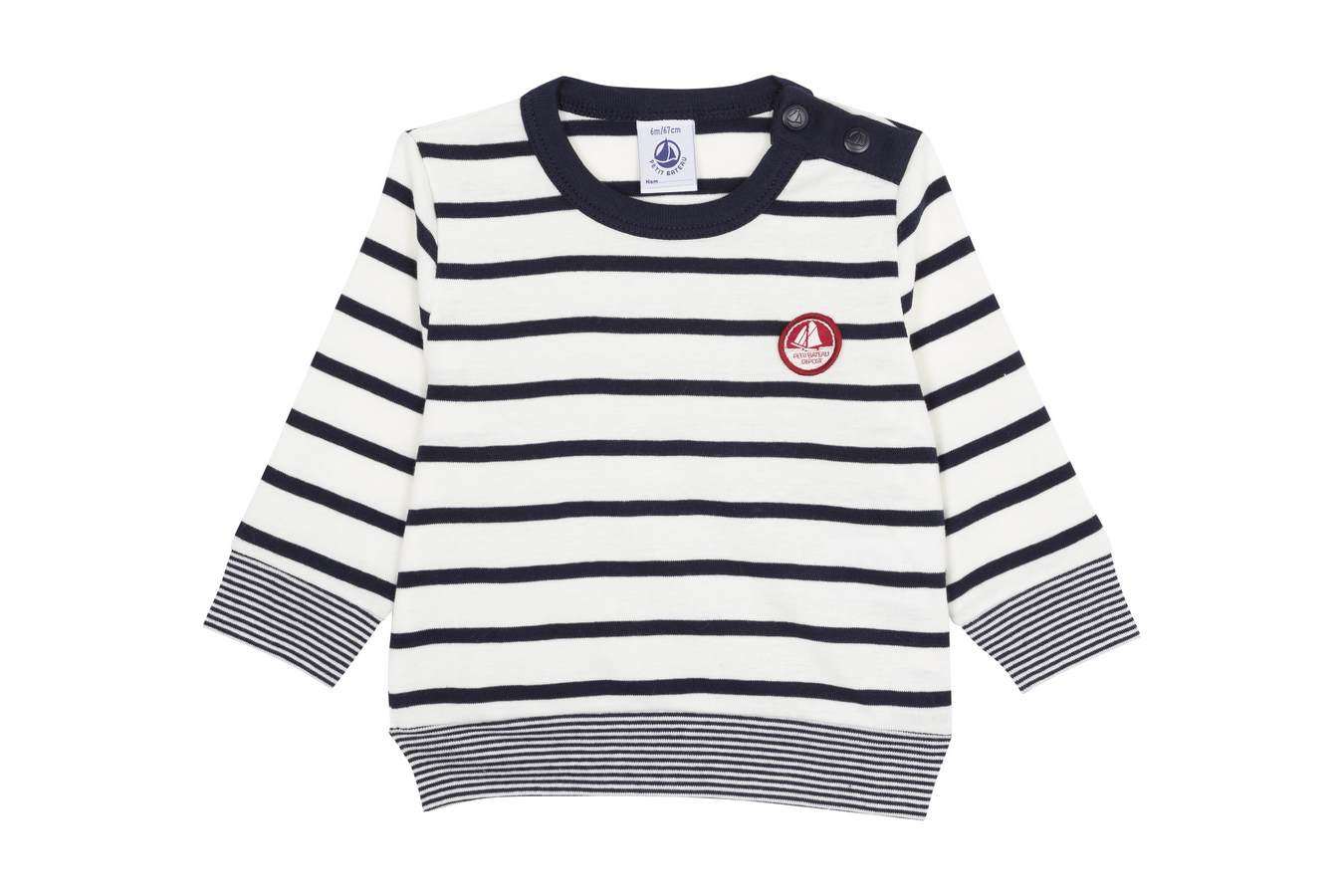 PETIT BATEAU Long Sleeve Striped Tee