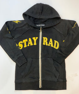 VINTAGE HAVANA Boys Stay Rad Zip Up Hooded Sweatshirt