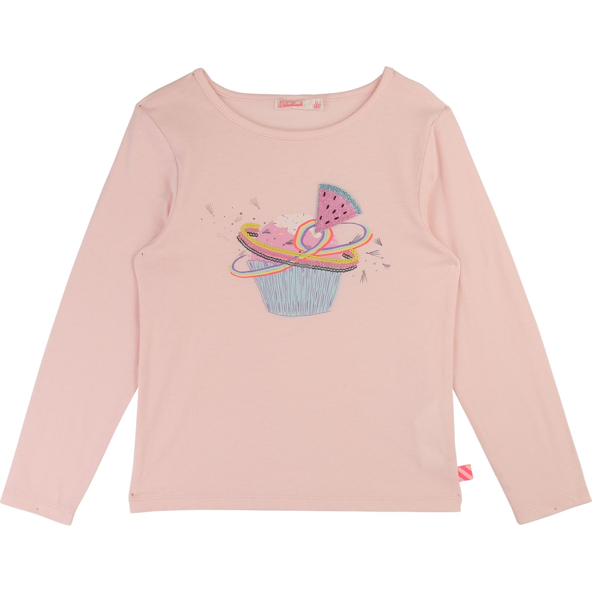 BILLIEBLUSH Girls Cupcake Watermelon Long Sleeve Tee