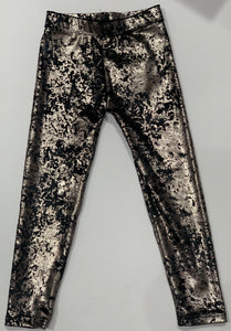 DORI CREATIONS Black Velvet Leggings