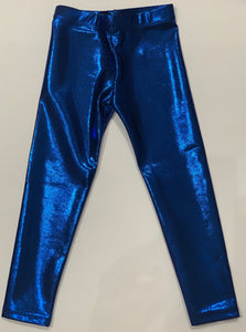 DORI CREATIONS Metallic Navy Leggings