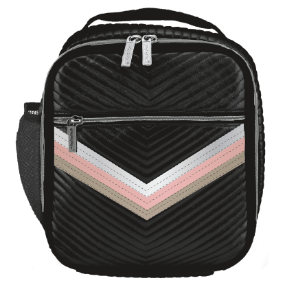 ISCREAM Rainbow Black Chevron Lunch Tote