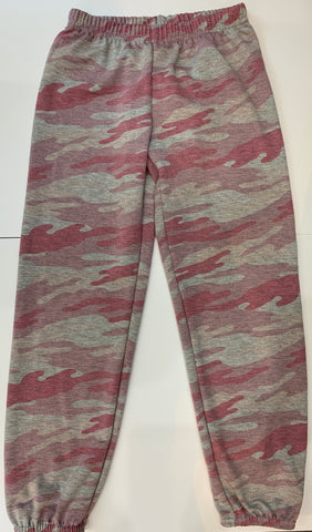 DORI CREATIONS Girls Pink Camo Sweatpants
