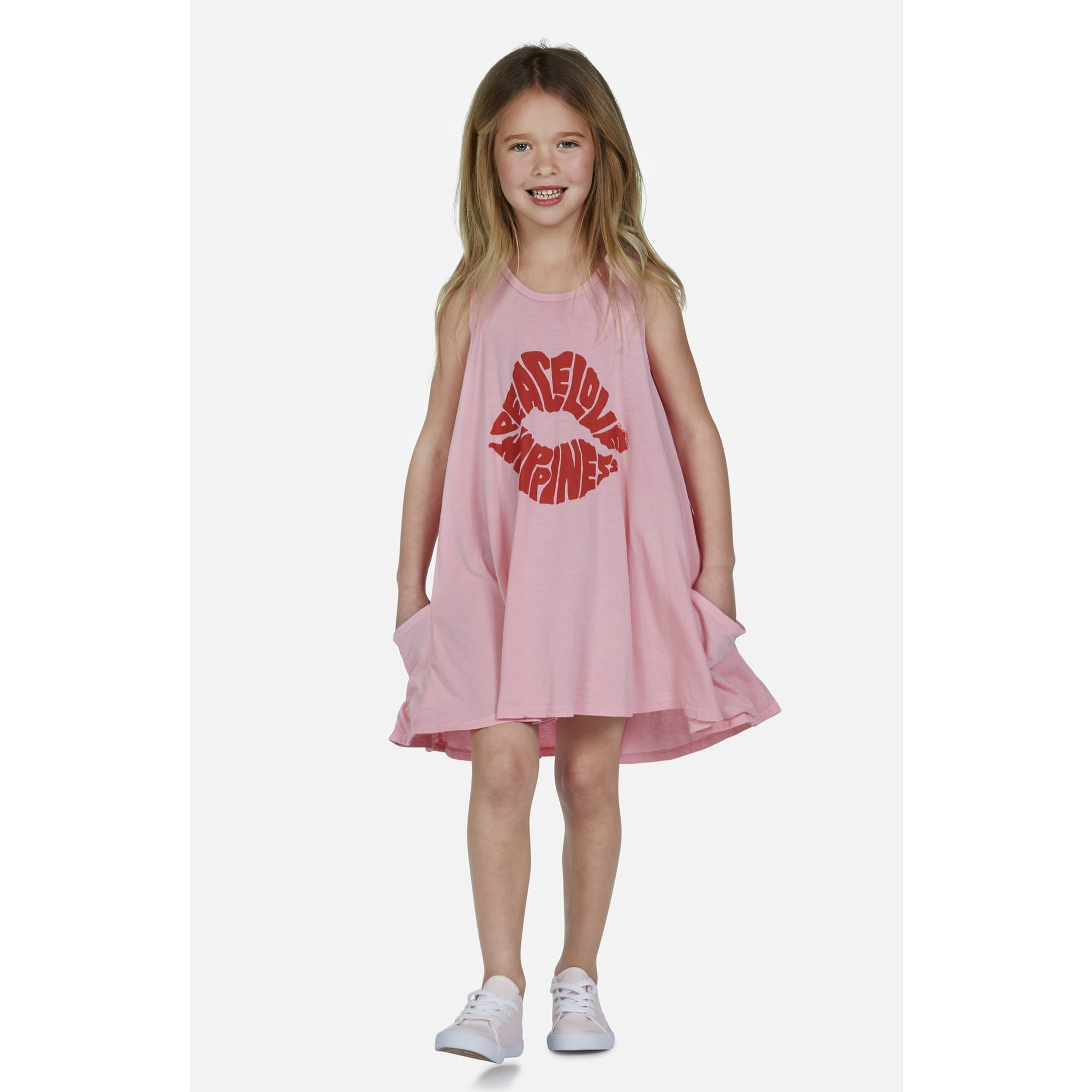 LAUREN MOSHI Peace Love Happiness Tank Dress