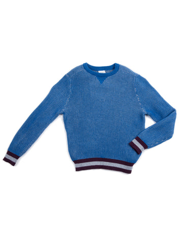 EGG BABY Boys Blue Stripe Hem Sweater