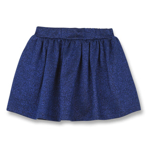 FINGER IN THE NOSE Girls Blue Glitter Skirt