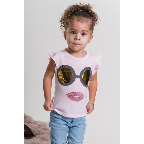 SPARKLE BY STOOPHER Stay Gold Ruffle Tee