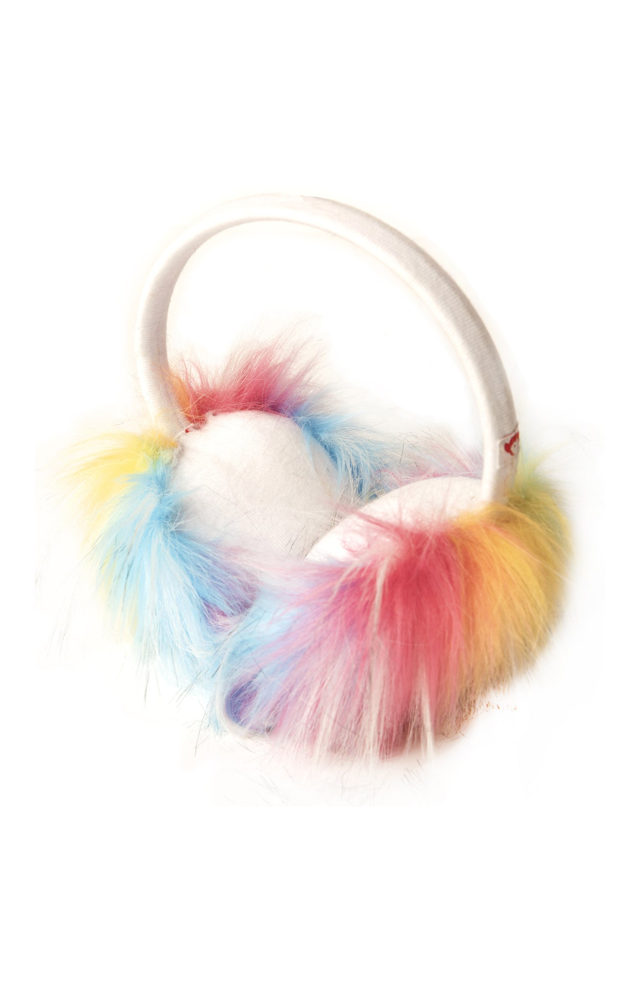 APPAMAN Girls Fuzzy Winter White Earmuffs