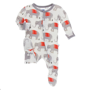 Kickee Pants Elephant Print Footie Coverall