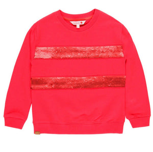 BOBOLI Striped Red Sweatshirt