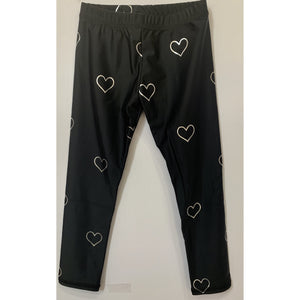 TEREZ Silver Heart Leggings