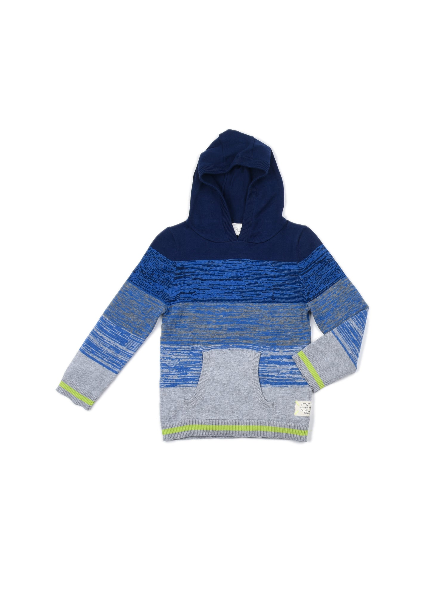EGG BABY Boys Ombré Striped Hooded Sweater