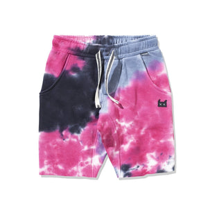 Munster - JERRY'S TIE DYE TRACK SHORTS