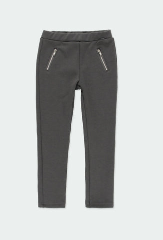 Boboli - Dark Grey Zippered Leggings