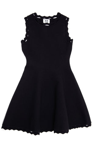MILLY Girls Black Knit Dress