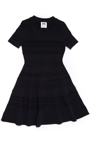 MILLY Girls Knit Short Sleeve Dress