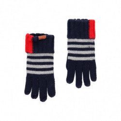 BOBOLI Boys Striped Knit Gloves