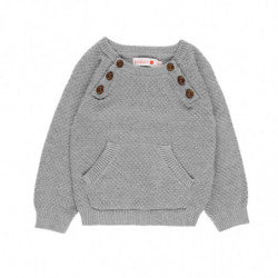 BOBOLI Boys Knit Sweater with Buttons