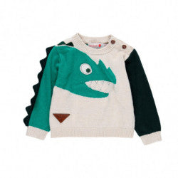 BOBOLI Boys Dinosaur Sweater