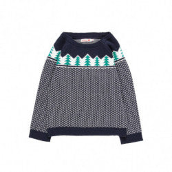BOBOLI Boys Pine Tree Sweater