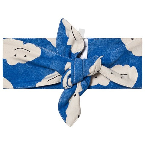 Noe & Zoe Berlin Blue Clouds Print Bow Headband