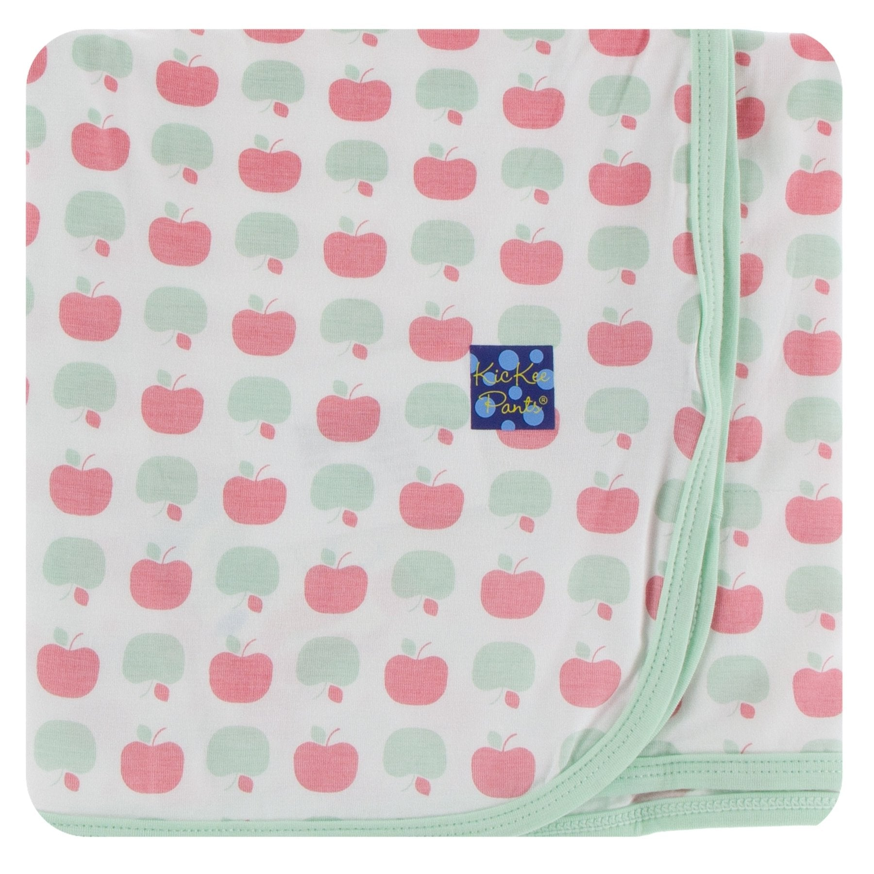 KICKEE PANTS PRINT SWADDLING BLANKET - NATURAL APPLES
