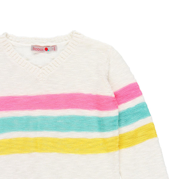 Boboli Neon Striped Sweater
