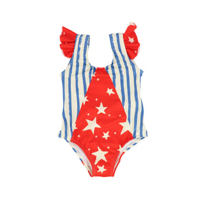 NOE AND ZOE BLUE STRIPE SWIMSUIT