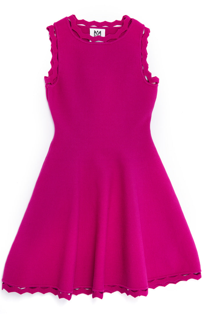 MILLY Girls Pink Knit Dress