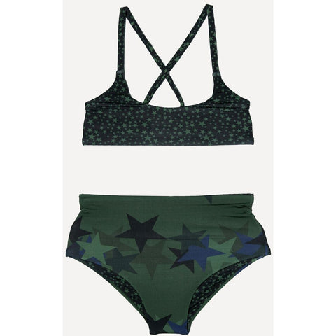 SUBMARINE SWIM High & Lows Military Star Bikini