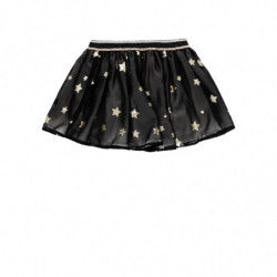 BOBOLI Girls Black Skirt with Stars