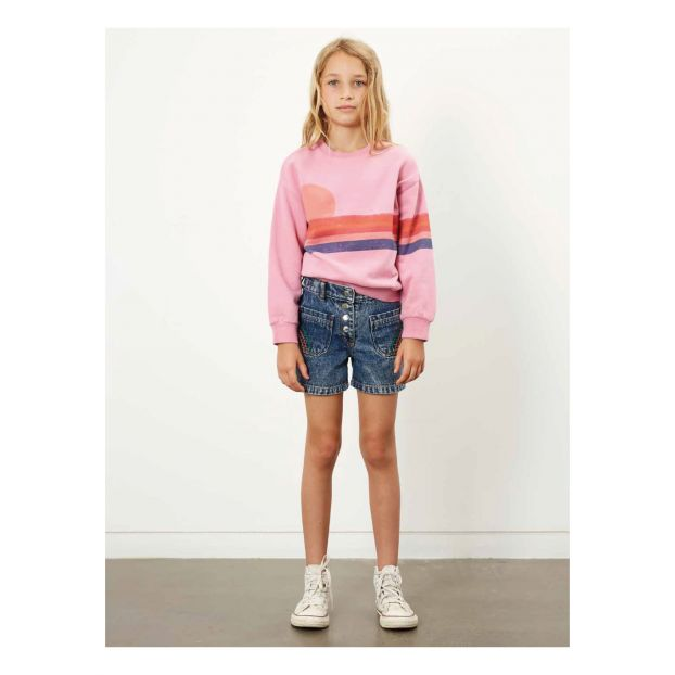 Hundred Pieces Sunset Organic Cotton Sweatshirt - Pink