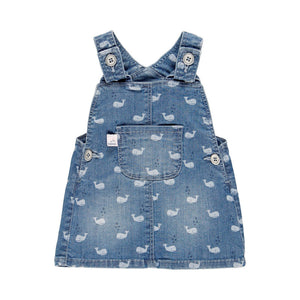 Boboli Stretch denim pinafore dress