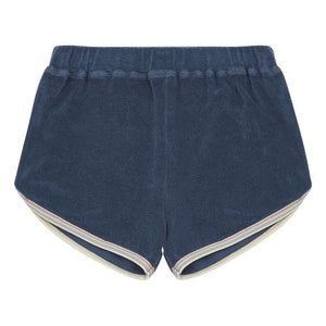 Hundred Pieces Terry Cloth Shorts - Marled blue