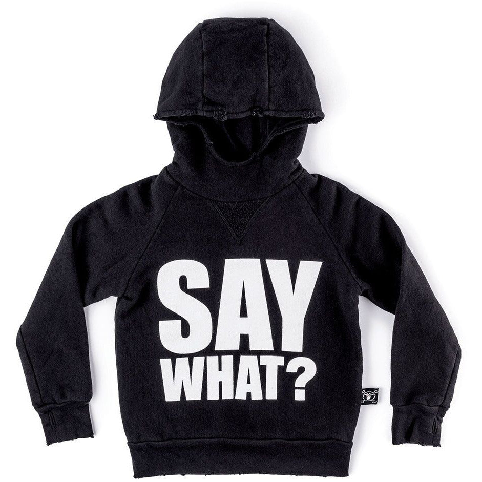 NUNUNU Say What Long Sleeve Hoodie
