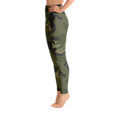 Camouflage High Waisted Leggings with Pocket
