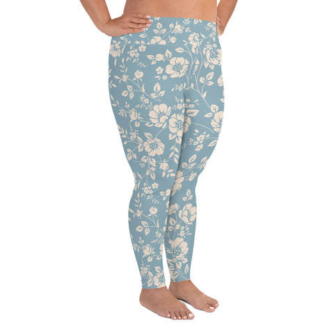 Flower Plus Size Leggings